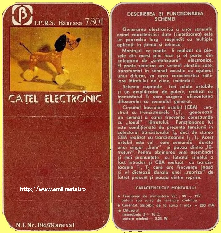 Kit 7801 - Catel electronic - Descriere functionare