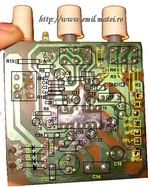 PCB Layout - TEA2025 amplifier